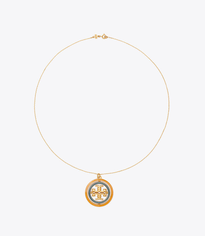 Miller Guilloche Pendant Necklace