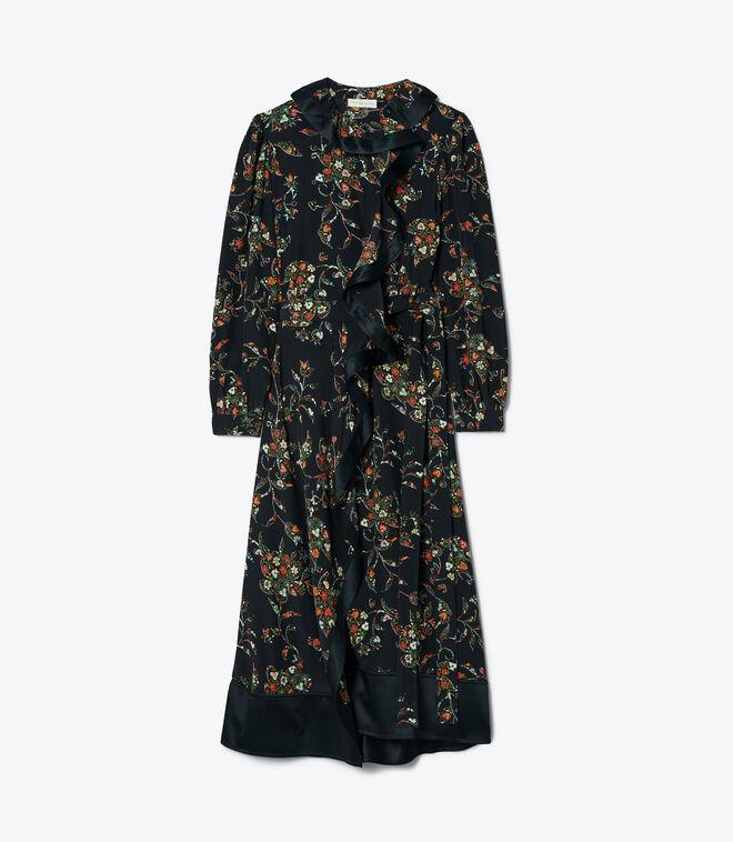 فستان رافل لف مطبوع / 016 / فساتين لف