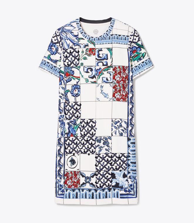 SEQUIN EMBELLISHED T-SHIRT DRESS