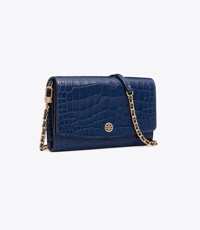 ROBINSON EMBOSSED CHAIN WALLET | 458 | Mini Bags