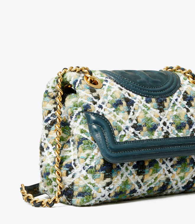 FLEMING SOFT TWEED SMALL CONVERTIBLE SHOULDER BAG