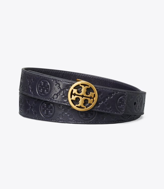 حزام جلد تي مونوغرام