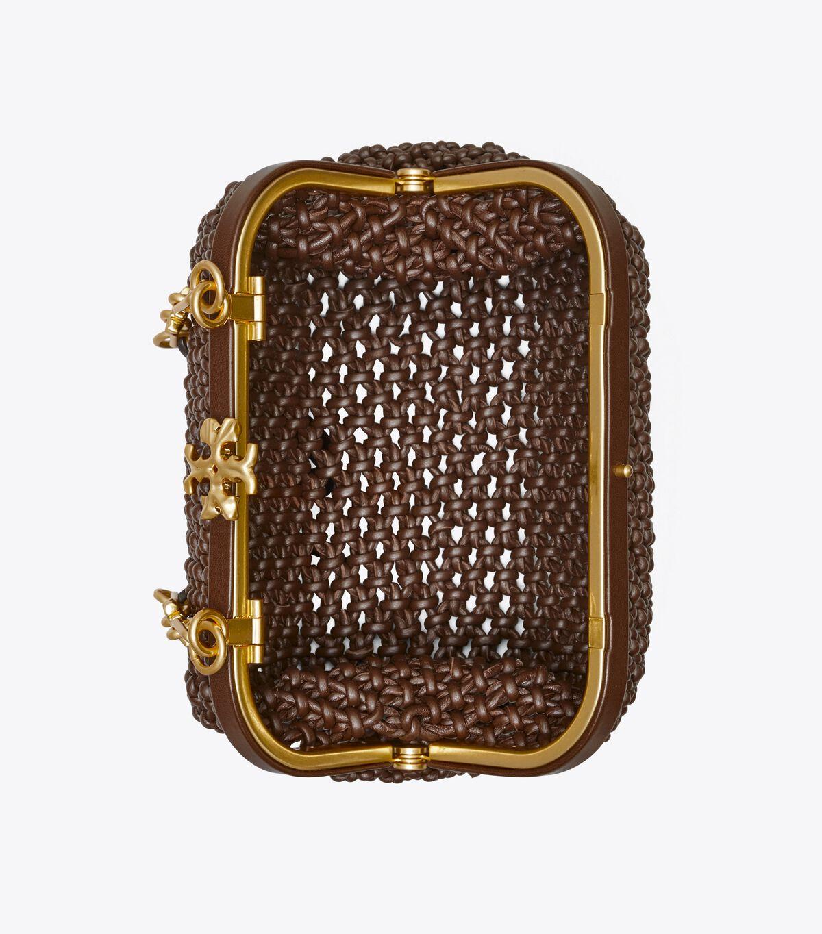 حقيبة منسوجة صغيرة كليو مكرامية