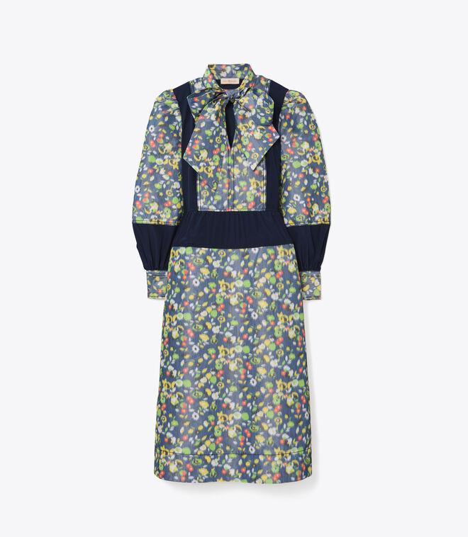 Taffeta Floral Dress