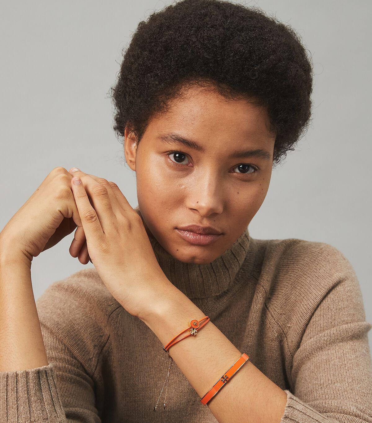 Kira Powder-Coated Slider Bracelet