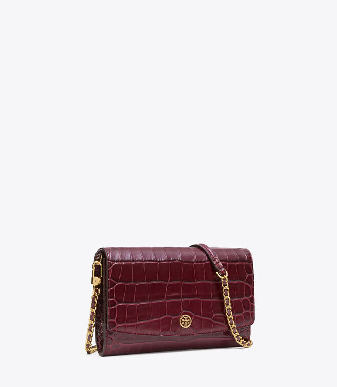ROBINSON EMBOSSED CHAIN WALLET | 639 | Mini Bags