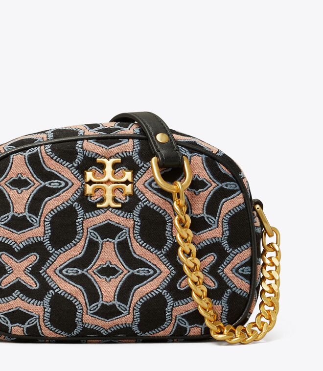 KIRA JACQUARD SMALL CAMERA BAG