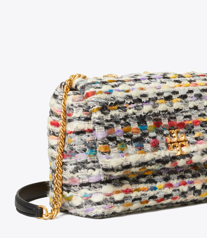 KIRA TWEED SMALL CONVERTIBLE SHOULDER BAG
