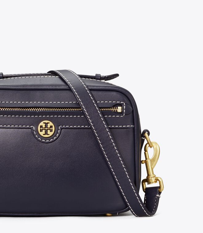 T MONOGRAM LEATHER CAMERA BAG