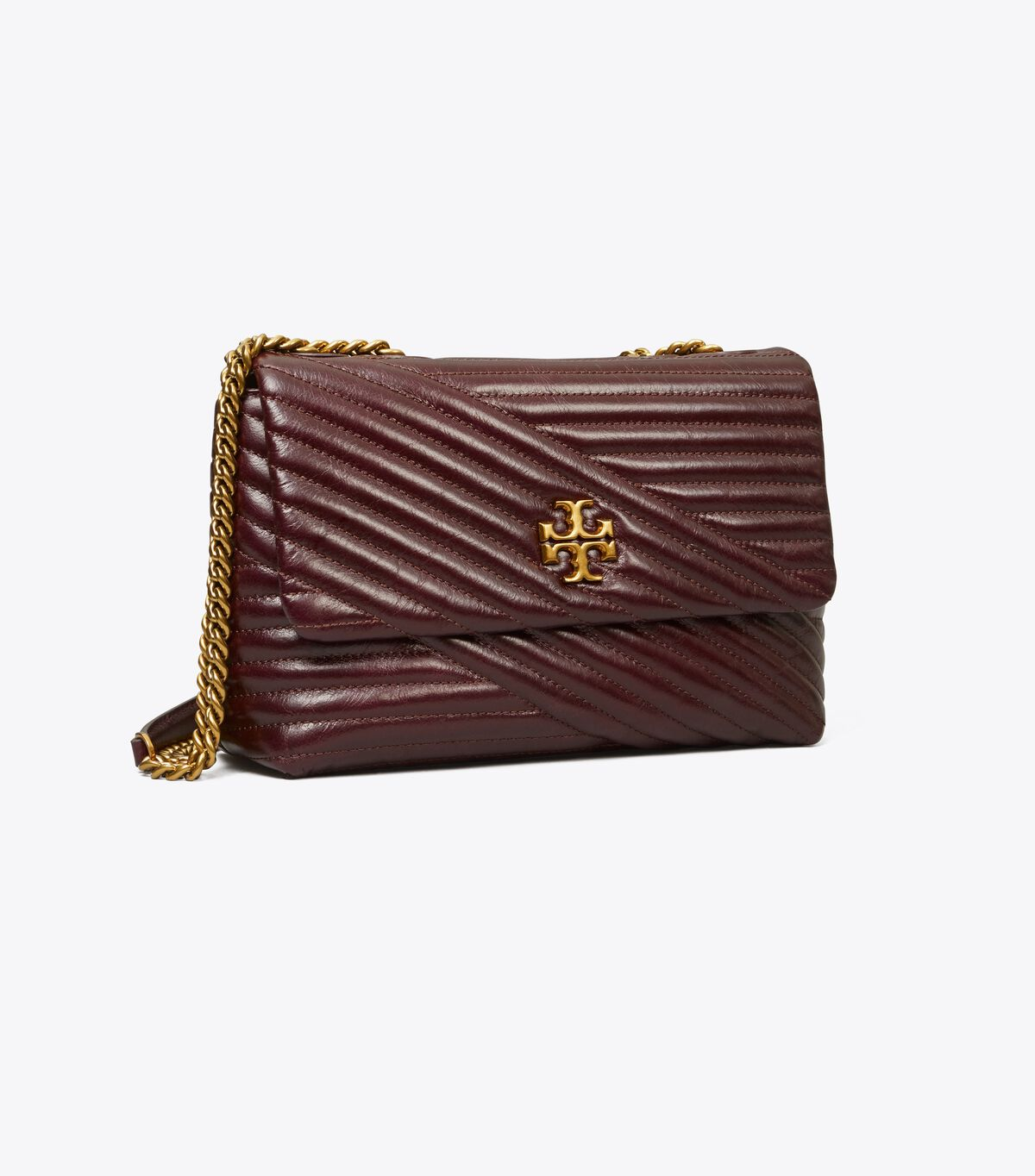 Kira Chevron Glazed Small Convertible Shoulder Bag