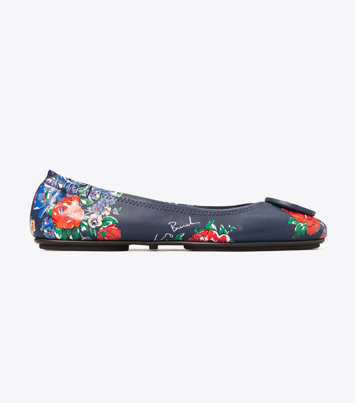 Minnie Printed Travel Ballet Flat, Leather