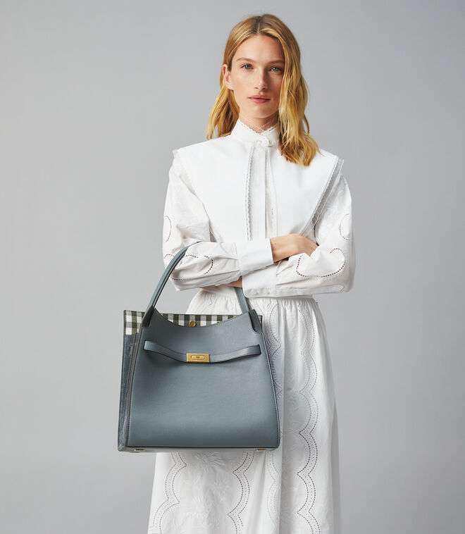 LEE RADZIWILL PRINTED INTERIOR DOUBLE BAG