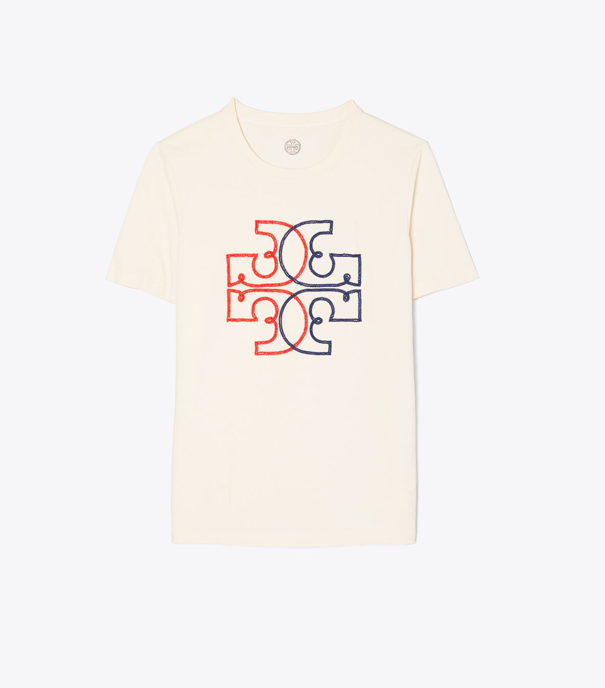 EMBROIDERED COLOR-BLOCK LOGO T-SHIRT