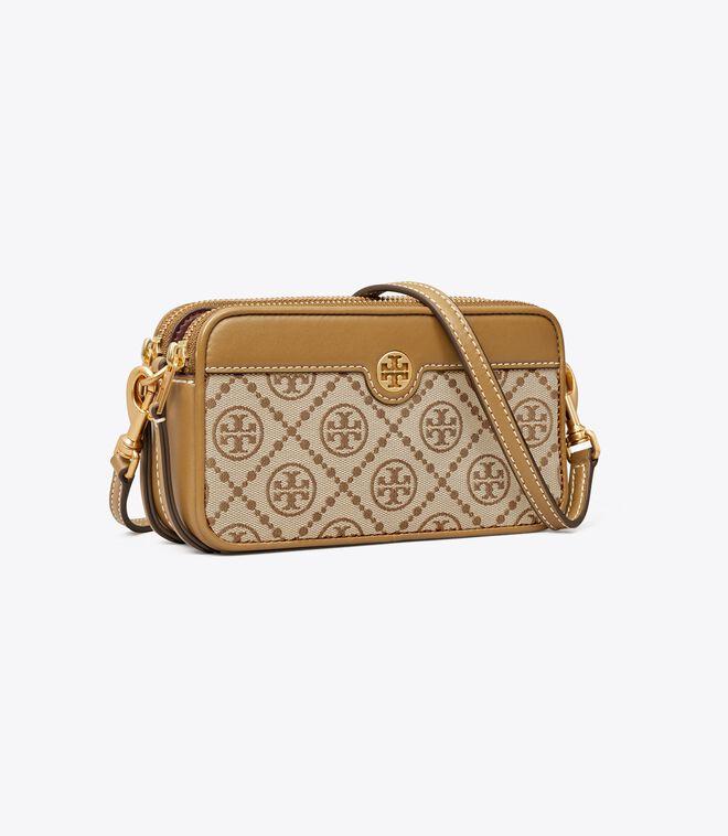 T Monogram Jacquard Double-Zip Mini Bag