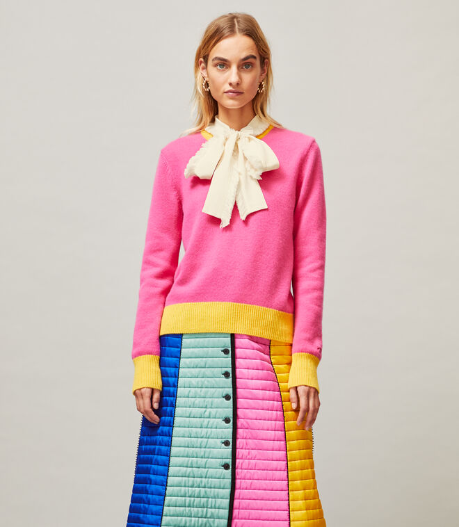 Color-Block Cashmere Sweater | 662 | Pullovers