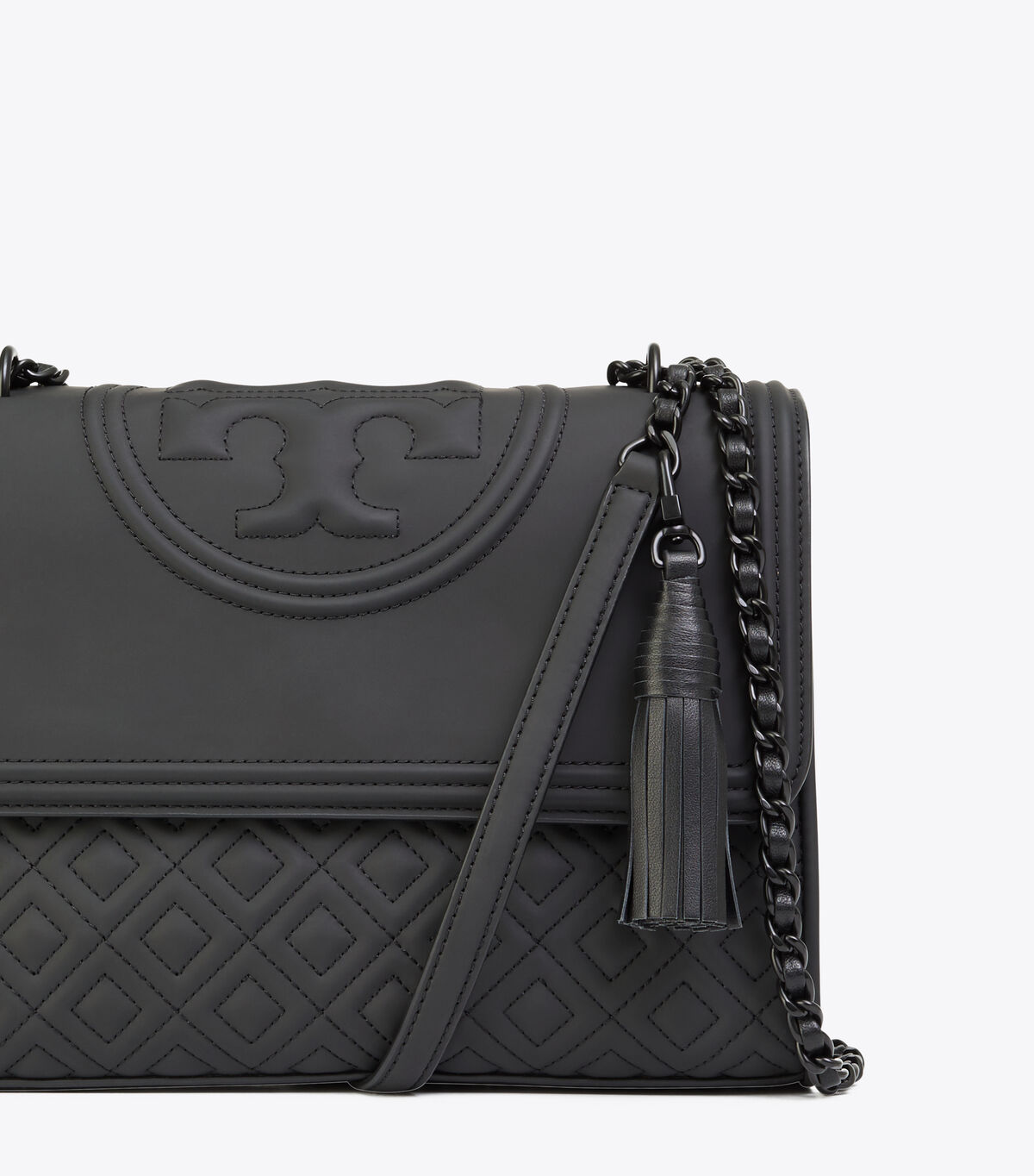 FLEMING MATTE CONVERTIBLE SHOULDER BAG | 001 | Shoulder Bags