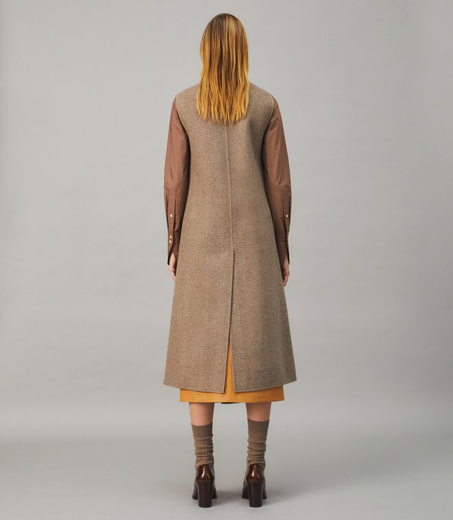 Double-Faced Wool Tailored Vest