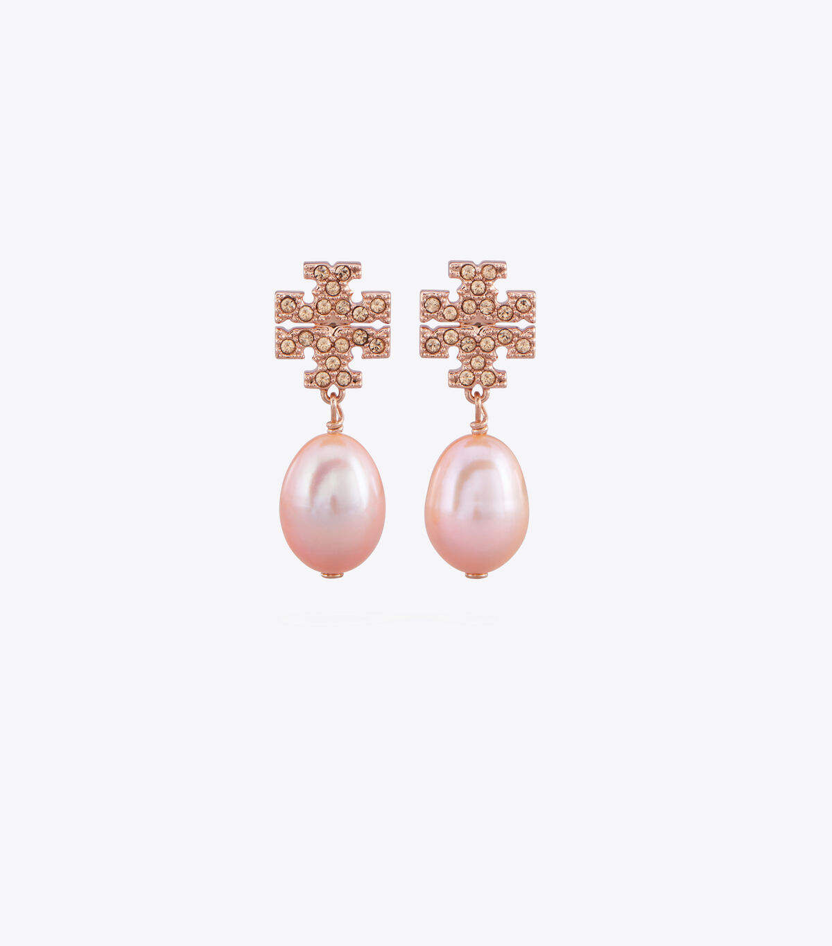 Kira Pavé Pearl Drop Earring