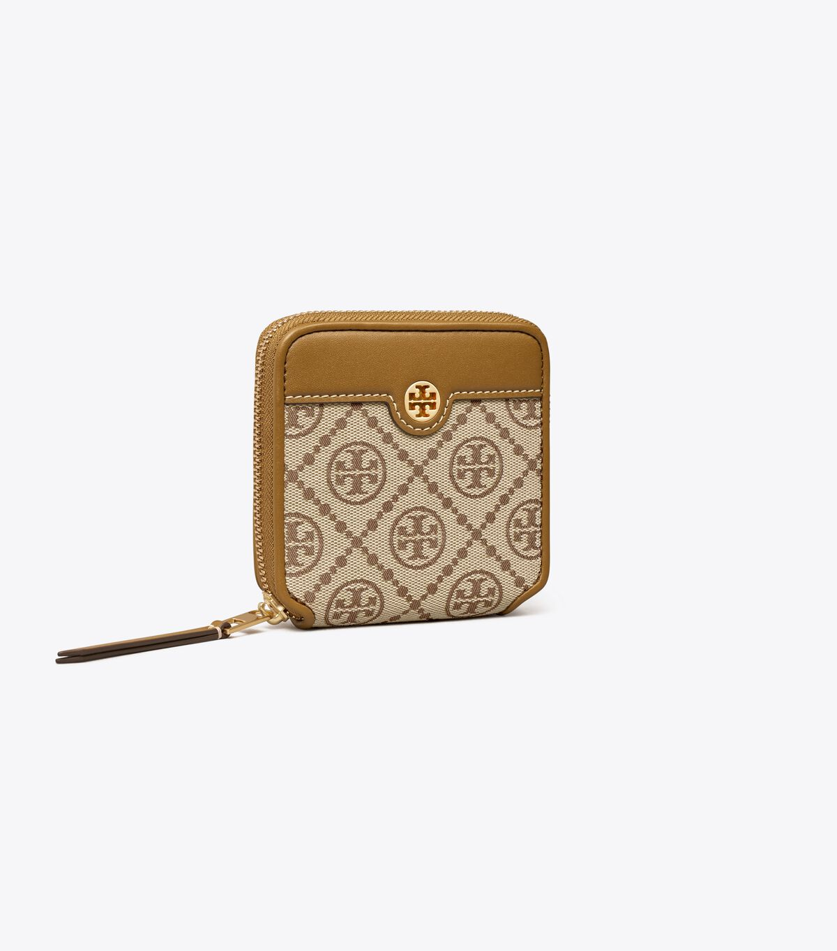 محفظة ثنائية الطي بشعار T مونوغرام جاكار