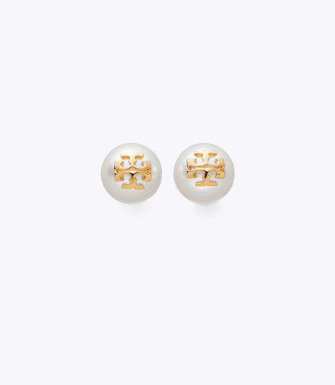 Crystal-Pearl Stud Earring